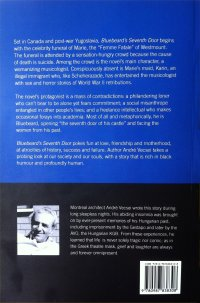 back cover of the novel Bluebeard's Seventh Door